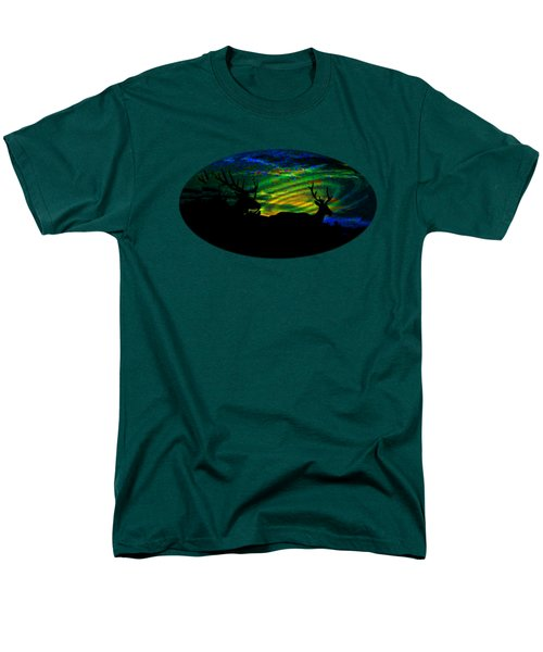 Men's T-Shirt  (Regular Fit) featuring the mixed media Nightwatch by Mike Breau