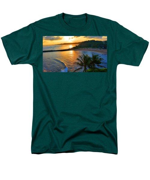 North Shore Of Oahu  Men's T-Shirt  (Regular Fit) by Michael Rucker
