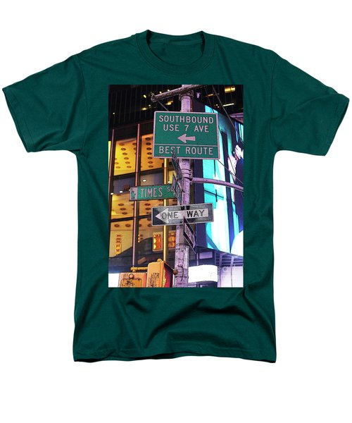 Nyc Street Sign Men's T-Shirt  (Regular Fit) by Kate Purdy