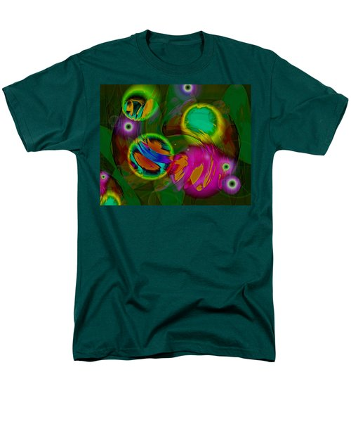 Men's T-Shirt  (Regular Fit) featuring the digital art Ocean Storm by Lynda Lehmann
