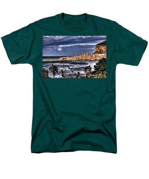 Old Coastal City  Men's T-Shirt  (Regular Fit) by Patrick Boening