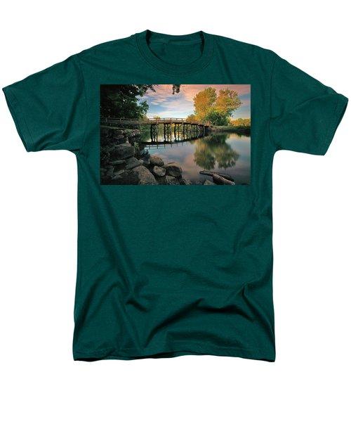 Old North Bridge Men's T-Shirt  (Regular Fit) by Rick Berk