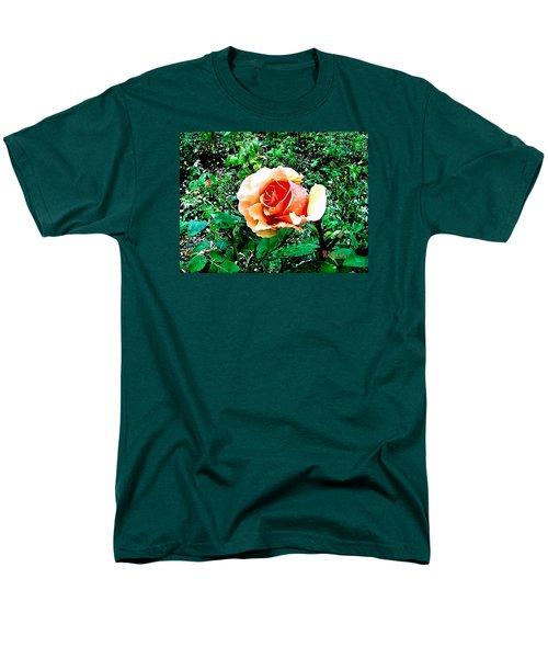 Men's T-Shirt  (Regular Fit) featuring the photograph Orange Rose by Sadie Reneau