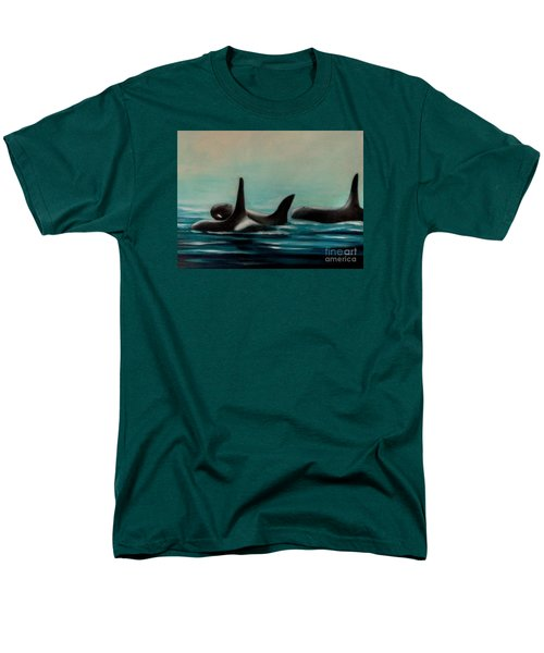 Orca's Men's T-Shirt  (Regular Fit) by Annemeet Hasidi- van der Leij