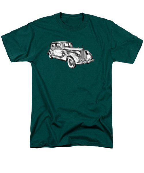 Packard Luxury Antique Car Illustration Men's T-Shirt  (Regular Fit) by Keith Webber Jr