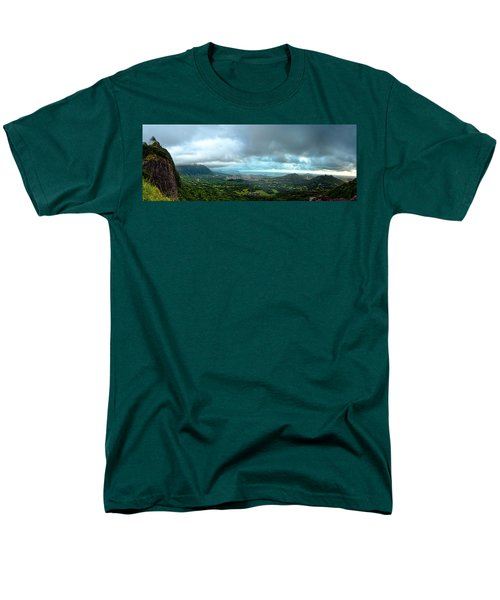Men's T-Shirt  (Regular Fit) featuring the photograph Pali Lookout Dawn by Dan McManus