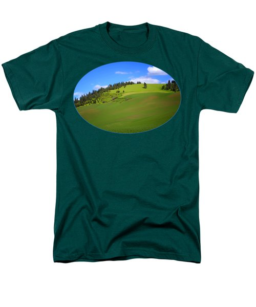 Palouse - Landscape - Transparent Men's T-Shirt  (Regular Fit) by Nikolyn McDonald