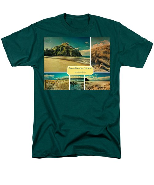 Paradise At The Barrier Men's T-Shirt  (Regular Fit) by Karen Lewis