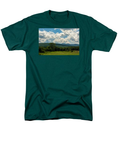 Pastoral Landscape With Mountains Men's T-Shirt  (Regular Fit) by Nancy De Flon