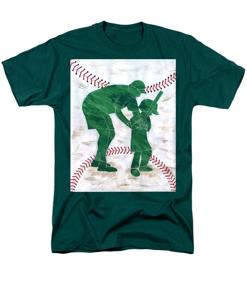 People At Work - The Little League Coach Men's T-Shirt  (Regular Fit) by Lori Kingston