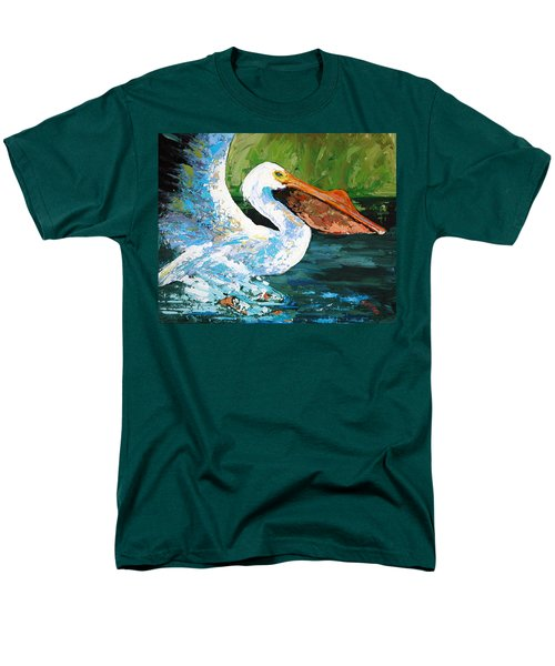 Men's T-Shirt  (Regular Fit) featuring the painting Pete Coming In For A Landing by Suzanne McKee