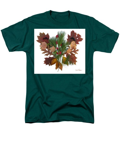 Men's T-Shirt  (Regular Fit) featuring the digital art Pine And Leaf Bouquet by Lise Winne