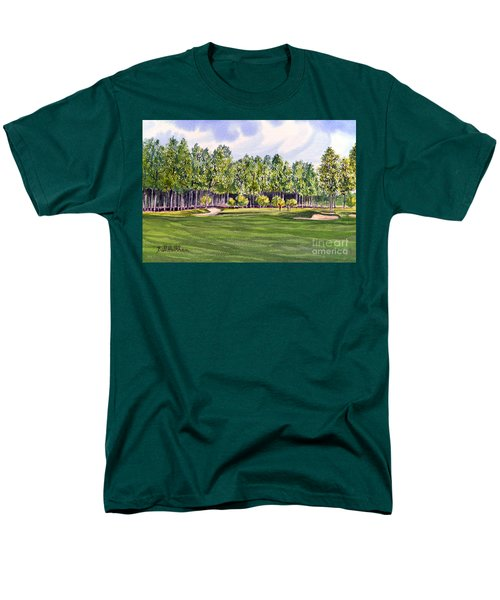 Pinehurst Golf Course 17th Hole Men's T-Shirt  (Regular Fit) by Bill Holkham