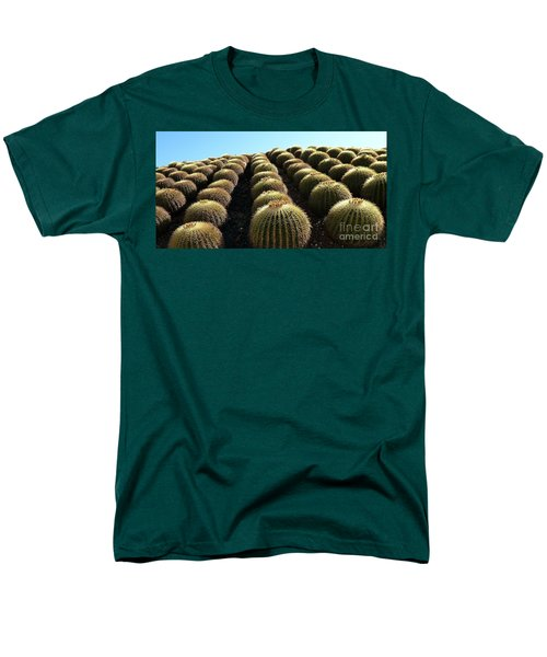 Men's T-Shirt  (Regular Fit) featuring the photograph Planet Of Cactus by Anna  Duyunova