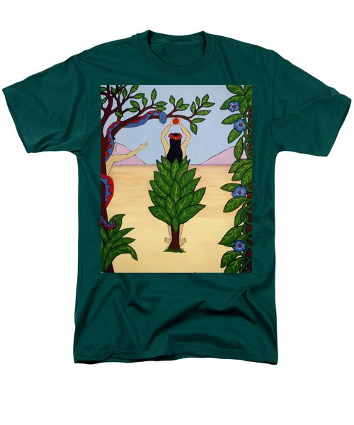 Men's T-Shirt  (Regular Fit) featuring the painting Please Don't Pick That Apple by Stephanie Moore