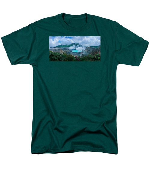 Men's T-Shirt  (Regular Fit) featuring the photograph Poas Volcano, Costa Rica by RC Pics