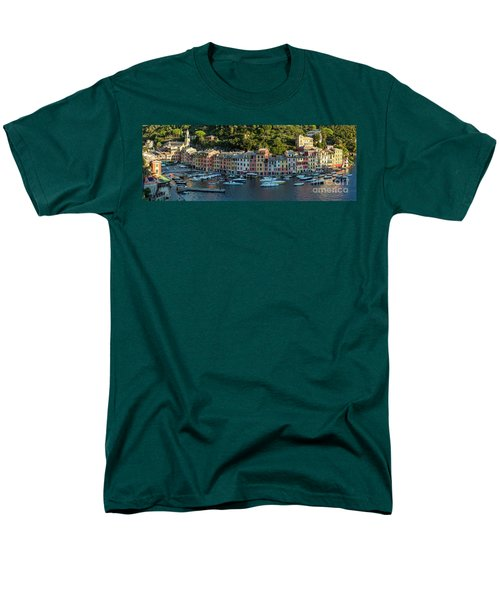 Men's T-Shirt  (Regular Fit) featuring the photograph Portofino Morning Panoramic II by Brian Jannsen