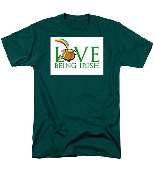 Pot Of Gold Love Being Irish Men's T-Shirt  (Regular Fit) by Greg Slocum