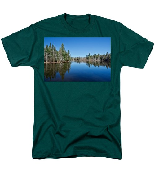 Men's T-Shirt  (Regular Fit) featuring the photograph Pure Blue Waters 1772 by Michael Peychich