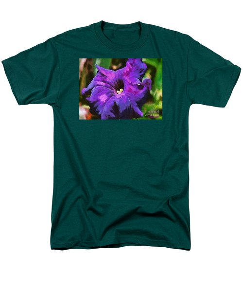 Men's T-Shirt  (Regular Fit) featuring the painting Purple Color Of Royalty by Dragica  Micki Fortuna