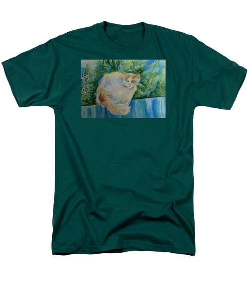 Men's T-Shirt  (Regular Fit) featuring the painting Puss by Anna  Duyunova