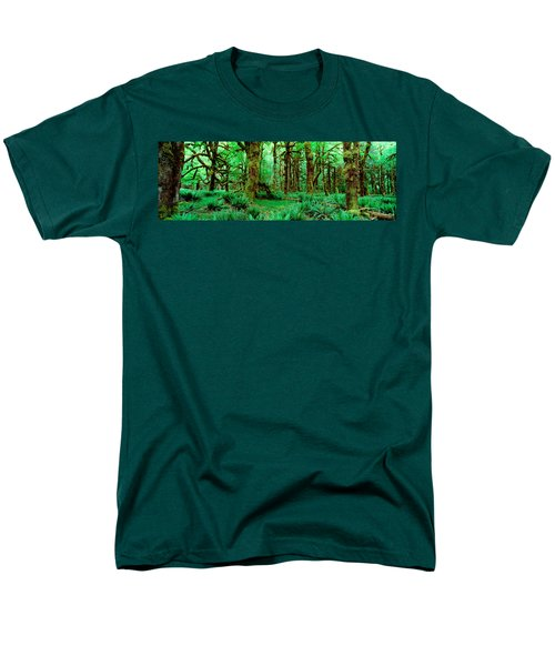 Rain Forest, Olympic National Park Men's T-Shirt  (Regular Fit) by Panoramic Images