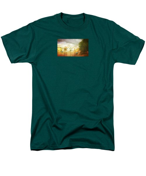 Men's T-Shirt  (Regular Fit) featuring the photograph Raincloud Over Malamocco by Anne Kotan