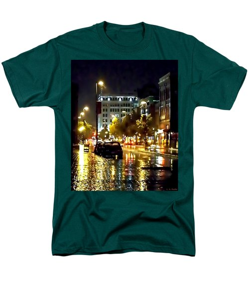Rainy Night In Green Bay Men's T-Shirt  (Regular Fit) by Lauren Radke