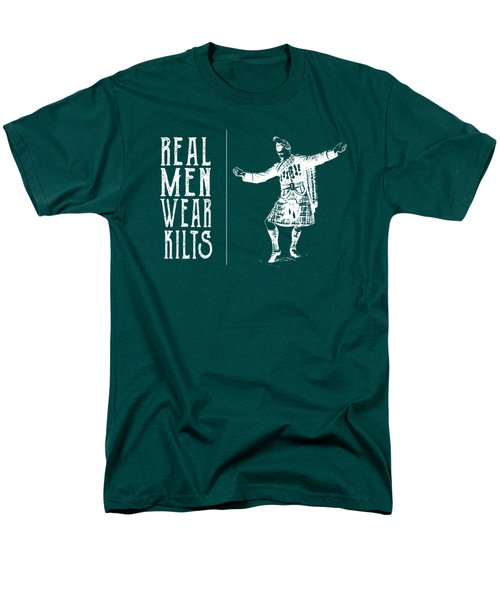 Men's T-Shirt  (Regular Fit) featuring the digital art Real Men Wear Kilts by Heather Applegate