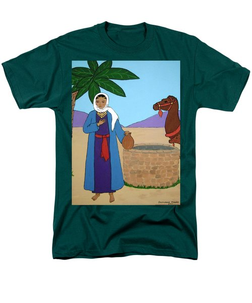 Men's T-Shirt  (Regular Fit) featuring the painting Rebecca At The Well by Stephanie Moore