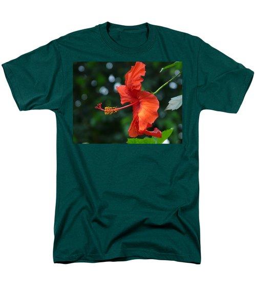 Red Hibiscus Men's T-Shirt  (Regular Fit)
