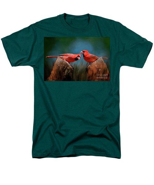 Men's T-Shirt  (Regular Fit) featuring the photograph Redbird Sentinels by Bonnie Barry
