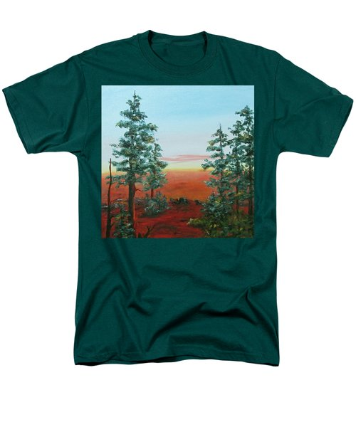 Men's T-Shirt  (Regular Fit) featuring the painting Redwood Overlook by Roseann Gilmore