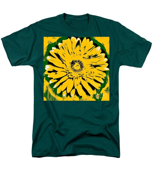 Retro Daisy Men's T-Shirt  (Regular Fit) by Marsha Heiken