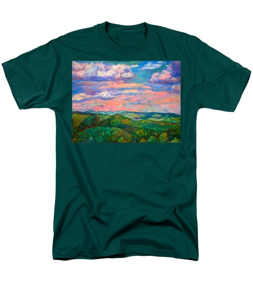 Men's T-Shirt  (Regular Fit) featuring the painting Rock Castle Gorge by Kendall Kessler