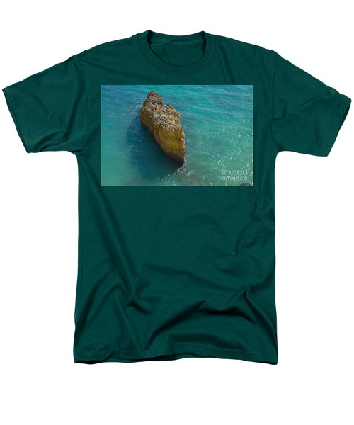 Rock Formation And The Sea In Algarve Men's T-Shirt  (Regular Fit) by Angelo DeVal