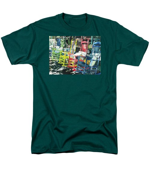 Men's T-Shirt  (Regular Fit) featuring the painting Rock On by LeAnne Sowa
