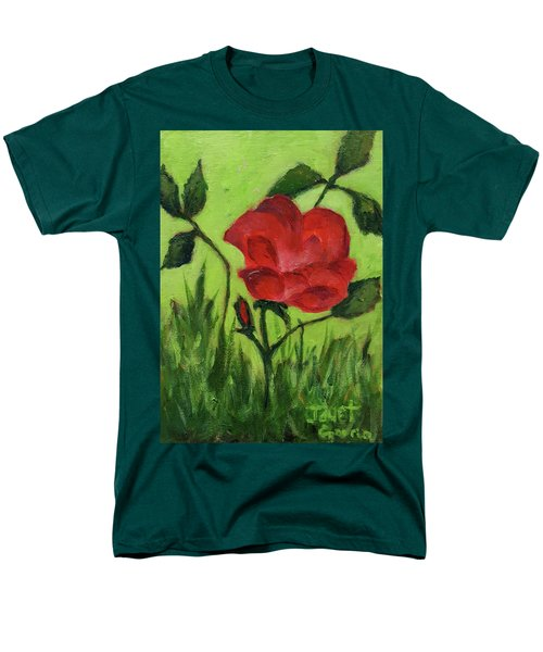Rose Men's T-Shirt  (Regular Fit) by Janet Garcia