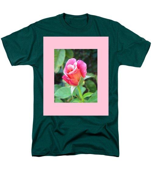 Rosebud With Border Men's T-Shirt  (Regular Fit) by Mary Ellen Frazee