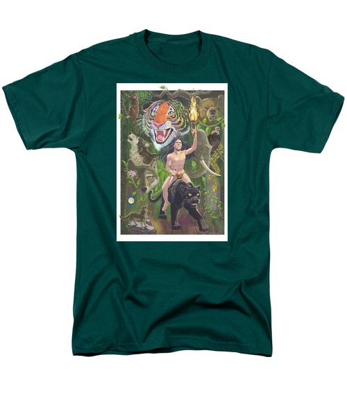 Men's T-Shirt  (Regular Fit) featuring the mixed media Savage by J L Meadows
