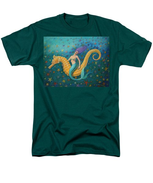 Seahorse Mermaid Men's T-Shirt  (Regular Fit) by Sue Halstenberg