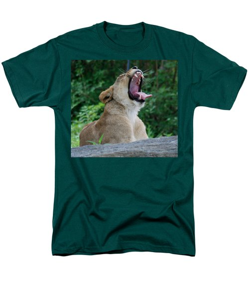 Men's T-Shirt  (Regular Fit) featuring the photograph Sleepy Lion by Richard Bryce and Family