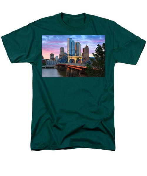 Smithfield Street Bridge Men's T-Shirt  (Regular Fit) by Emmanuel Panagiotakis