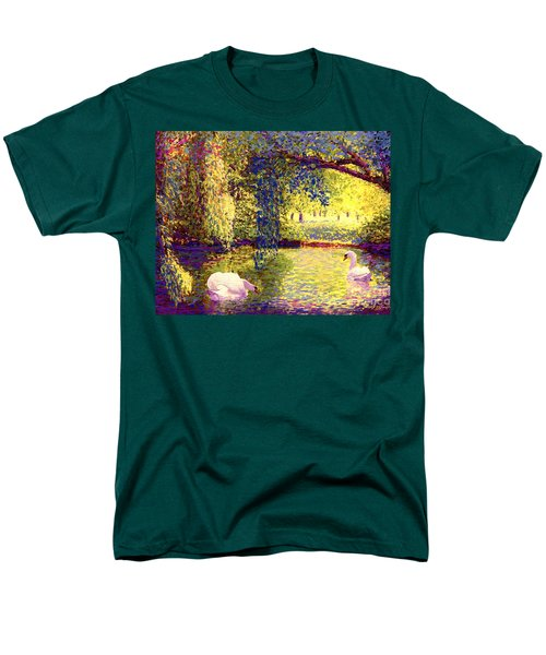 Men's T-Shirt  (Regular Fit) featuring the painting Swans, Soul Mates by Jane Small