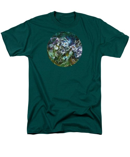 Men's T-Shirt  (Regular Fit) featuring the painting Sparkle In The Shade by Mary Wolf