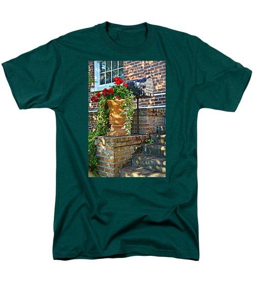 Spring Geraniums Men's T-Shirt  (Regular Fit) by Linda Brown