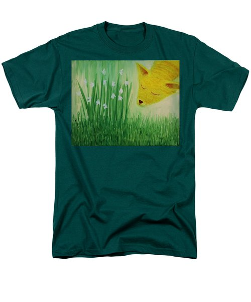 Men's T-Shirt  (Regular Fit) featuring the painting Spring Morning by Tone Aanderaa