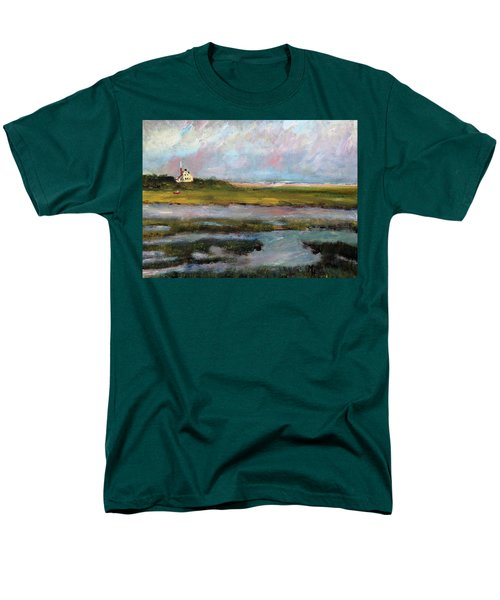 Men's T-Shirt  (Regular Fit) featuring the painting Springtime In The Marsh by Michael Helfen