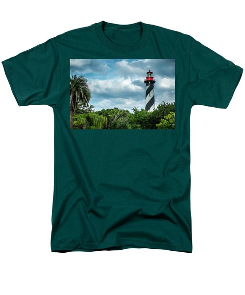 Men's T-Shirt  (Regular Fit) featuring the photograph St. Augustine Lighthouse by Louis Ferreira