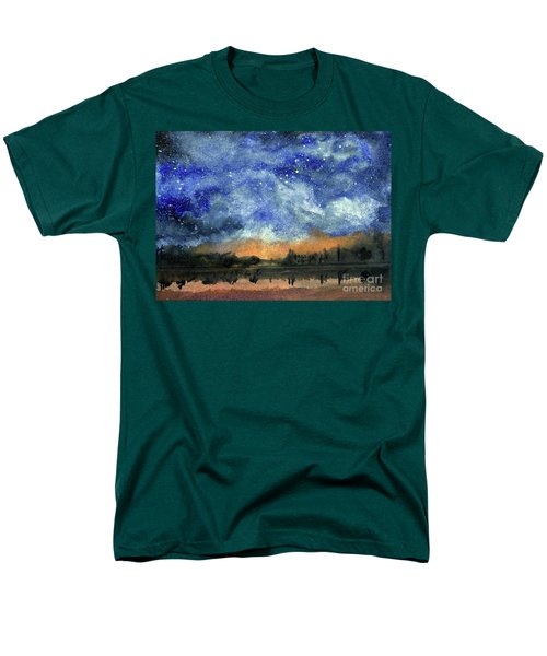 Starry Night Across Our Lake Men's T-Shirt  (Regular Fit) by Randy Sprout